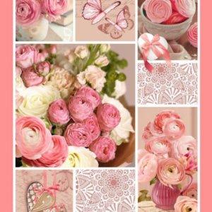 """""""Розовый пэчворк"""" вафельное полотенце"""