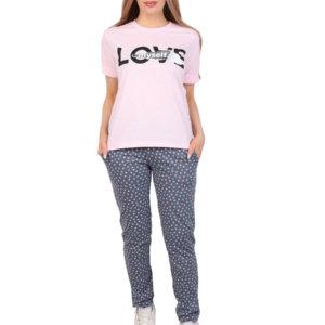 "Костюм ""Love"" розовый брюки"